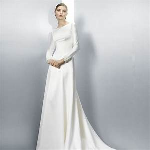 simple long sleeve wedding dress all women dresses With simple long sleeve wedding dress
