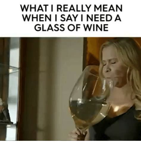 Wine Glass Meme - what i really mean when i say i need a glass of wine meme on sizzle