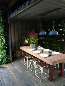 Dining Room Made From 2 Up Cycled Shipping Containers