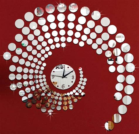 Decorative Living Room Wall Clocks by Aliexpress Buy 3d Circle Mirror Wall Stickers Large