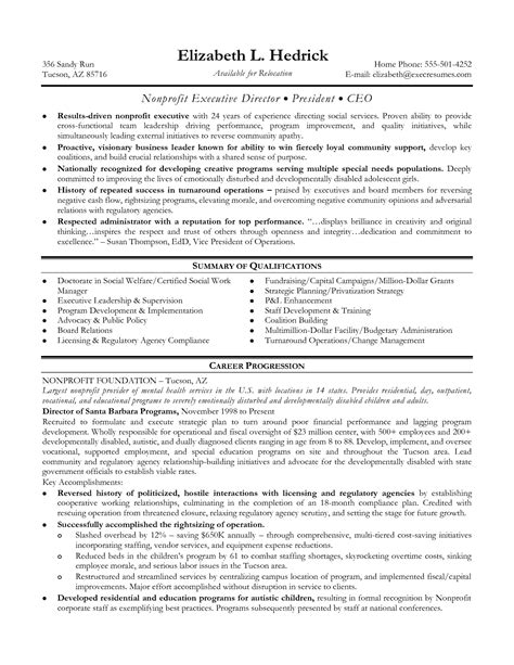 cover letter nonprofit executive director cover letter