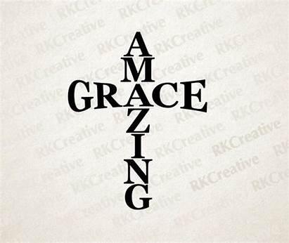 Grace Svg Amazing Vector Cut Cross Silhouette
