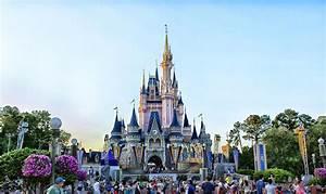 The Magic Kingdom Castle On A Beautiful Summer Day
