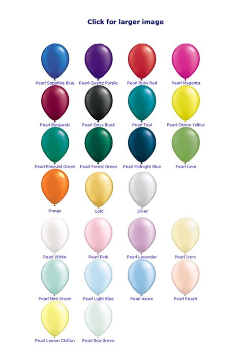 what color is helium helium balloon colours