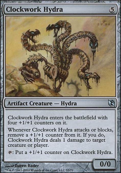 progenitus deck tapped out clockwork hydra mtg card
