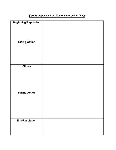 16 Best Images Of Identifying Plot Worksheets  Setting Story Elements Worksheets, Literary