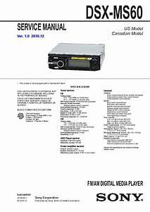 Sony Marine Stereo Dsx Ms60 Manual