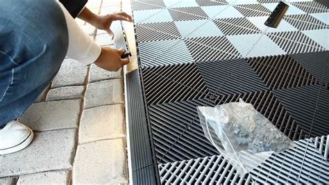 garage rubber flooring how to install vented xl modular garage tiles