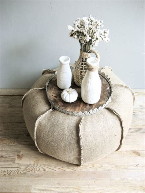 burlap pouf 8 ways you can incorporate burlap into your decor for a rustic look