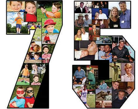 number photo collage template 20 creative easy ways to use photos as decorations