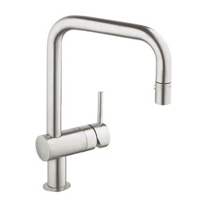 ferguson grohe kitchen faucets g32319dc0 minta pull out spray kitchen faucet supersteel