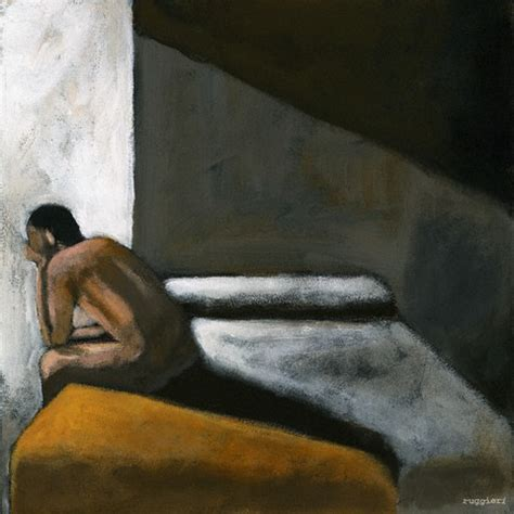 Art Painting Man Crying Alone