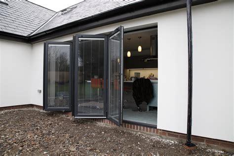 bi folding door grey internal blinds dm windows