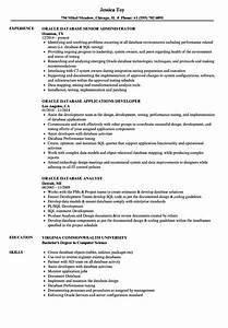 oracle dba sample resumes for experienced - oracle database resume samples velvet jobs