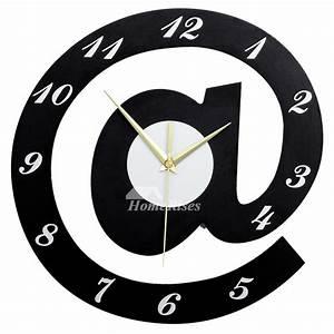 Cool Clocks Creative Black 12/16/20 Inch Large Wooden ...