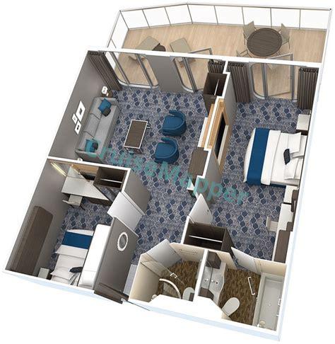 harmony   seas cabins  suites cruisemapper