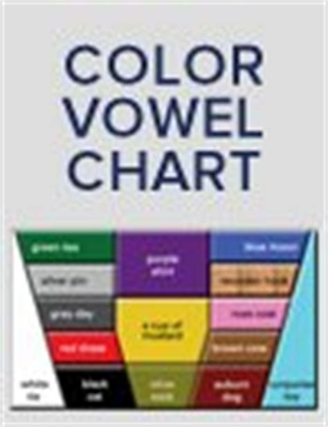 color vowel chart the color vowel chart american