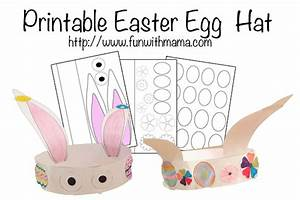 printable easter egg and bunny hat fun with mama With easter bunny hat template