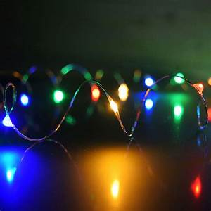 Multi color plug in led dew drop string lights