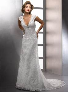 sheath v neck cap sleeve destination beach lace wedding With v neck cap sleeve wedding dress