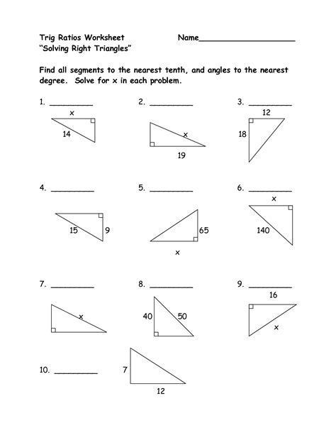 14 best images of basic trigonometry worksheet trig equations worksheet basic trig equations