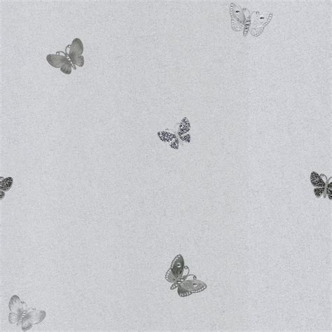 Metallic Wallpaper Amelia Butterfly Muriva 70142