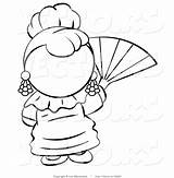 Fan Spanish Clipart Hand Coloring Pages Woman Clip Waving Vector Gables Anne Electric Leo Outlined Cartoon Library Human Blanchette Clipartmag sketch template