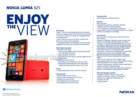 specifications of the nokia lumia 625 leak ahead of launch
