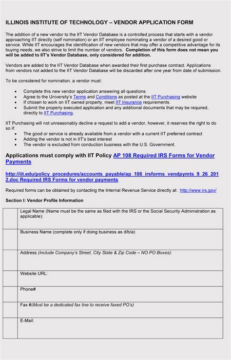 printable blank vendor registration form templates