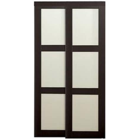 reliabilt 3 lite frosted glass sliding closet interior
