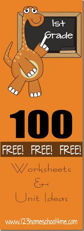 100+ Free First Grade Level Worksheets & Unit Studies  Free Homeschool Deals