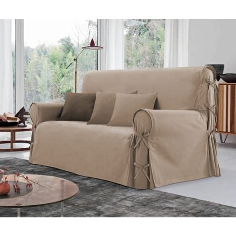 magasin housse de canapé housse de canapé 3 places à nouettes en coton pas cher à