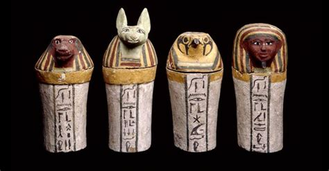 egyptian pots  organs google search canopic jars