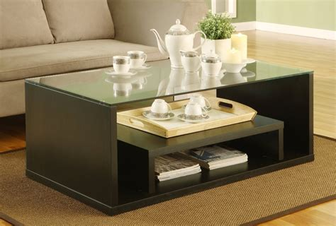 contemporary glass coffee tables adding  style