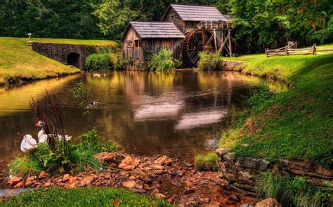 Old Mill Wallpaper - Landscape Wallpapers  Free Download