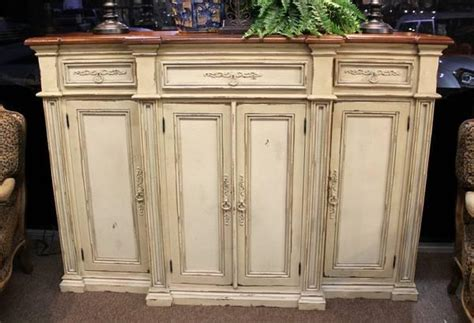 tall ivory habersham style sideboard console  sale  spring texas classified