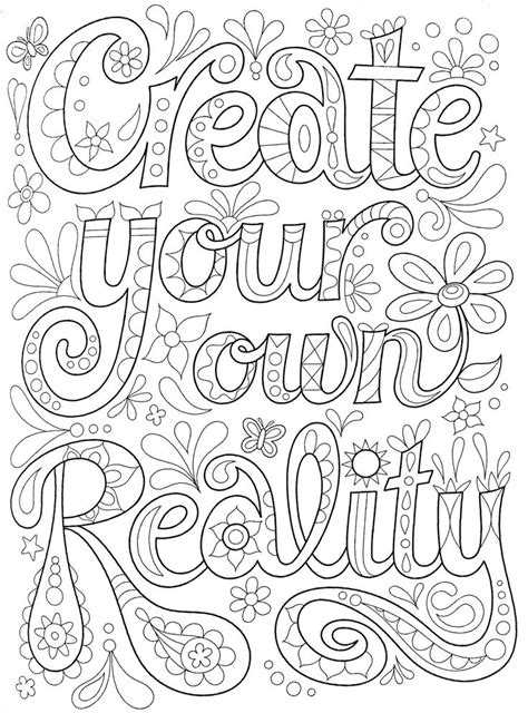 Adult coloring page (With images) | Quote coloring pages