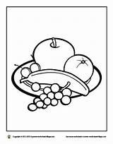 Breakfast Coloring Pages Healthy Eat Getcolorings Printable sketch template