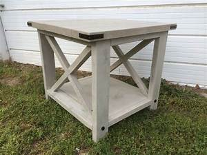 end table rustic x barn style chad39s custom creations With barn style end tables