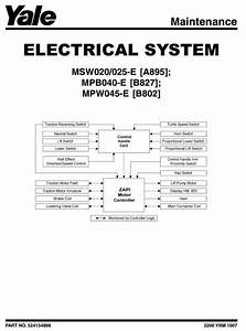 Yale Forklift Wiring Diagram  Parts  Wiring Diagram Images