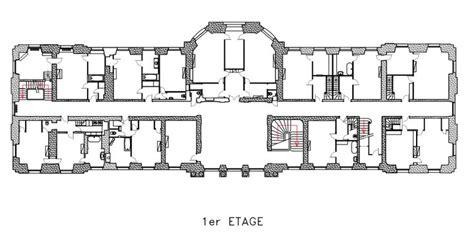 chateau floor plans chateau de chlatreux floor plan architectural