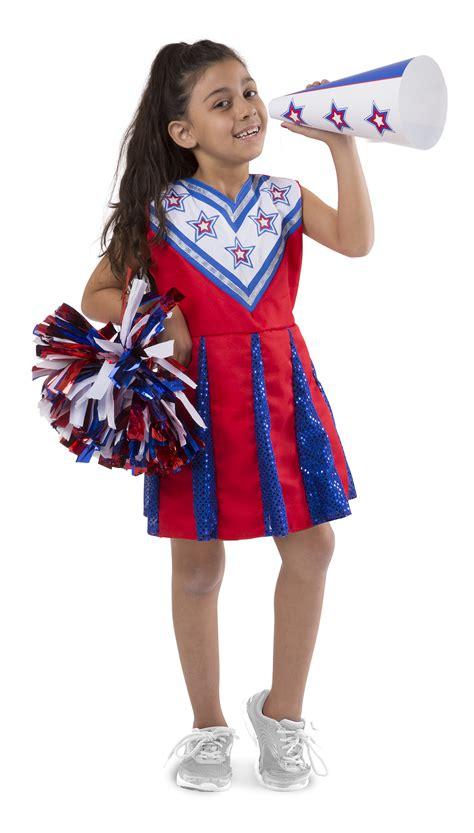 melissa doug cheerleader role play costume dress  set