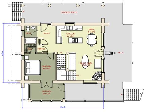 Log Home and Log Cabin Floor Plans Between 1500-3000