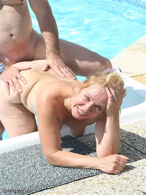 old blonde hottie gets hardcore sex near the pool pichunter