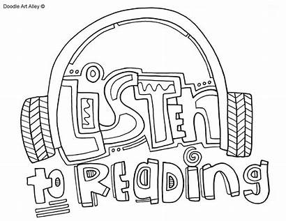 Coloring Pages Daily Reading Alphabet Doodle Five