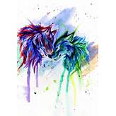 Rainbow Wolves by Lucky978 on DeviantArt