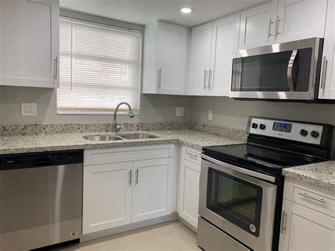 small kitchen remodel  white shaker cabinets miami