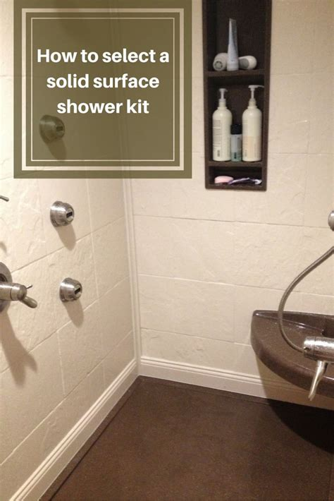 select  stone solid surface shower kit shower