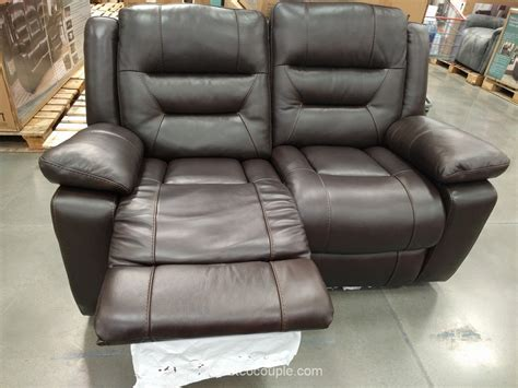 costco leather reclining sofa furniture decor