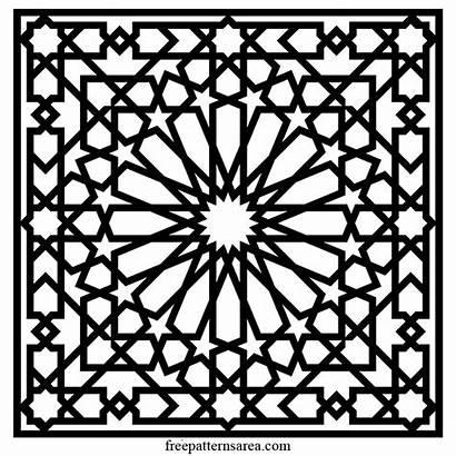 Islamic Geometric Vector Arabesque Pattern Templates Patterns